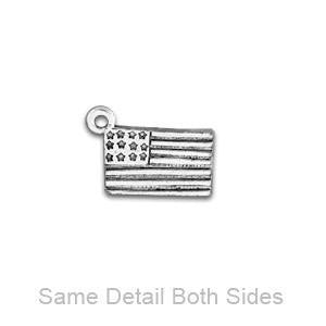 American Flag Zipper Pull or Sewing Charm