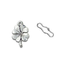 Four Leaf Clover Zipper Pull or Sewing Charm