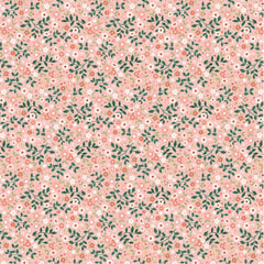 Goose Creek Gardens Pink Garden Mix Yardage by Lori Woods for Poppie Cotton Fabrics