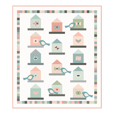 Garden Birds Quilt Pattern by Lori Woods of Poppie Cotton Fabrics