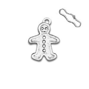 Gingerbread Man Zipper Pull or Sewing Charm