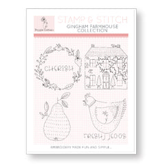 Stamp and Stitch Gingham Farmhouse Collection by Poppie Cotton