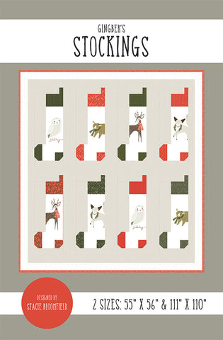 Gingiber's Stockings Quilt Pattern by Stacie Bloomfield