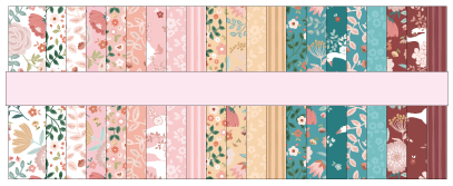 "Goose Creek Gardens 2.5"" Strips by Lori Woods for Poppie Cotton Fabrics"