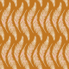 Homebody Presently Plumes Gold Yardage by Maureen Cracknell for Art Gallery Fabrics