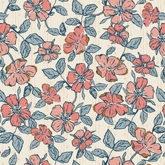 Homebody Crafted Blooms Vanilla Yardage by Maureen Cracknell for Art Gallery Fabrics