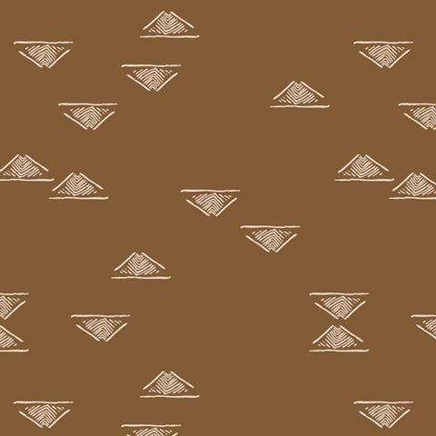 Homebody Walnut Domestic Charm Yardage by Maureen Cracknell for Art Gallery Fabrics