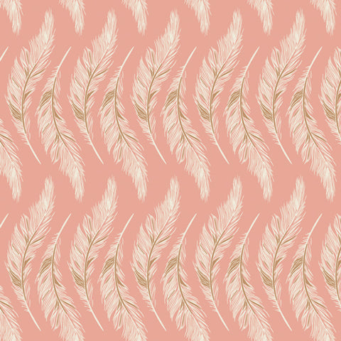 Homebody Rose Presently Plumes Yardage by Maureen Cracknell for Art Gallery Fabrics
