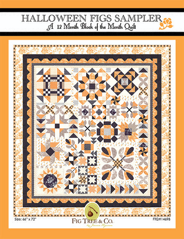 PREORDER Halloween Figs Sampler Quilt Kit