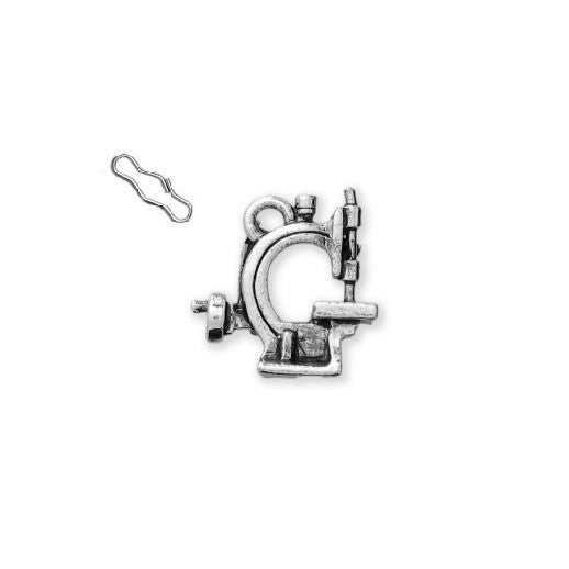 Hand Crank Sewing Machine Zipper Pull or Sewing Charm