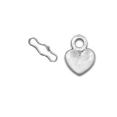 Heart Zipper Pull or Sewing Charm