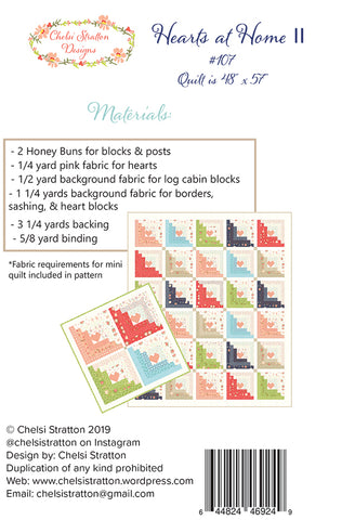 Hearts at Home ll Quilt Pattern by Chelsi Stratton