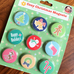Cozy Christmas Magnets by Lori Holt of Bee in my Bonnet