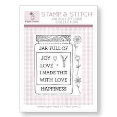 Stamp and Stitch Jar Full of Love Label by Poppie Cotton