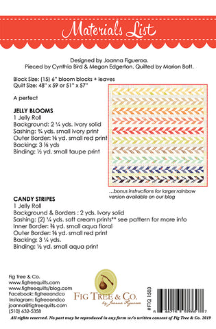 Jelly Blooms & Candy Stripes Quilt Pattern by Fig Tree & Co.