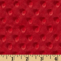 Minky Cuddle Dimple Dot Red by Shannon Fabrics