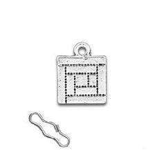 Log Cabin Quilt Square Zipper Pull or Sewing Charm