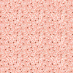 Goose Creek Gardens Pink Meadow Leaves Yardage by Lori Woods for Poppie Cotton Fabrics