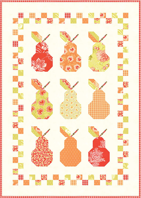 Mini Canned Pears Mini Quilt Pattern by Fig Tree Quilts