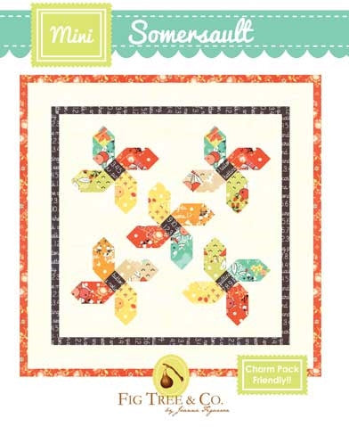 Mini Somersault Quilt Pattern by Fig Tree & Co.
