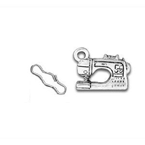 Modern Sewing Machine Zipper Pull or Sewing Charm