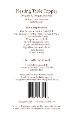 Nesting Table Topper Mini Quilt Pattern by The Pattern Basket