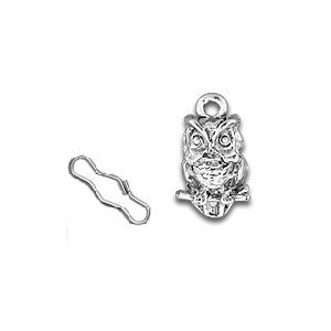 Owl Zipper Pull or Sewing Charm