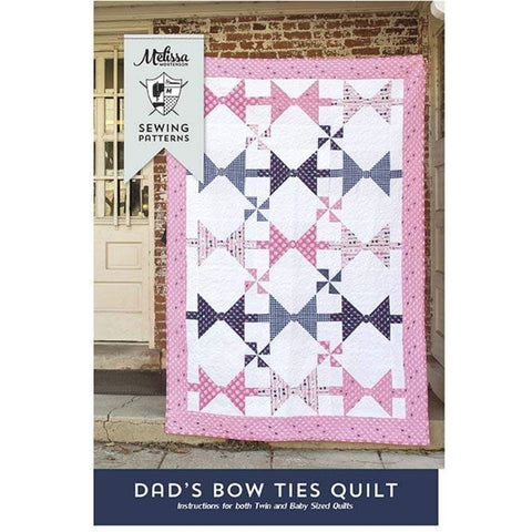 Dad's Bow Ties Quilt Pattern by Melissa Mortenson