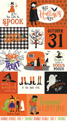Hocus Pocus Orange Panel by Echo Park Paper Co. for Riley Blake Designs