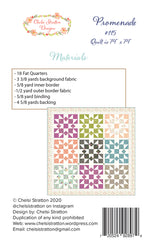 Promenade Quilt Pattern by Chelsi Stratton