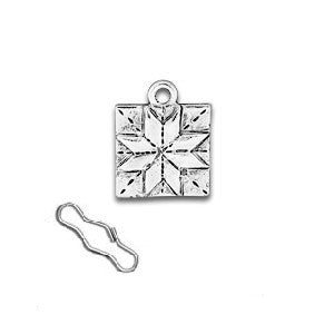 Quilt Square Zipper Pull or Sewing Charm