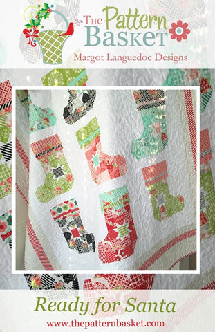 Ready for Santa Quilt Pattern by Margot Languedoc of The Pattern Basket