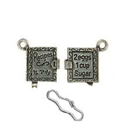 Recipe Book Zipper Pull or Sewing Charm