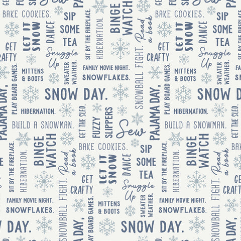 Snow Day Snowbound Yardage by Mister Domestic for Art Gallery Fabrics