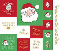 Santa Claus Lane Christmas Panel 1 by Melissa Mortenson for Riley Blake Designs