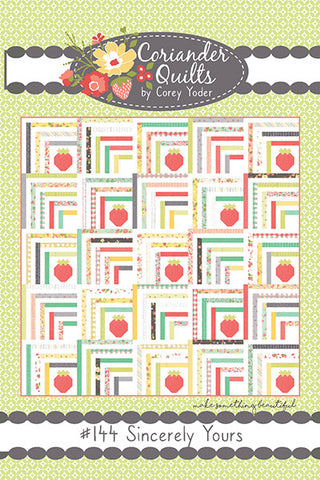Sincerely Yours Quilt Pattern by Corey Yoder of Coriander Quilts
