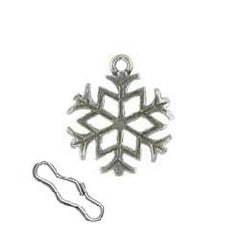 Snowflake Zipper Pull or Sewing Charm