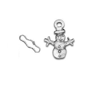 Snowman Zipper Pull or Sewing Charm