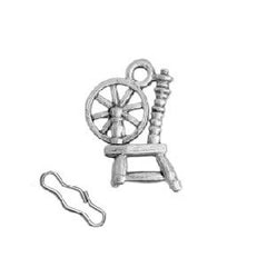 Spinning Wheel Zipper Pull or Sewing Charm
