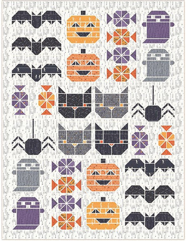 Spooky Sampler Quilt Kit featuring Ghouls and Goodies by Stacy Iest Hsu