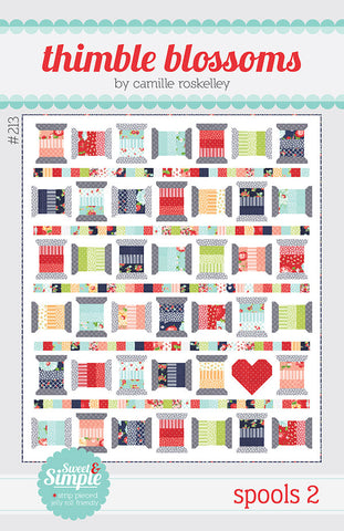 Spools 2 Quilt Pattern by Thimble Blossoms
