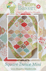 Square Dance Mini Quilt Pattern by The Pattern Basket