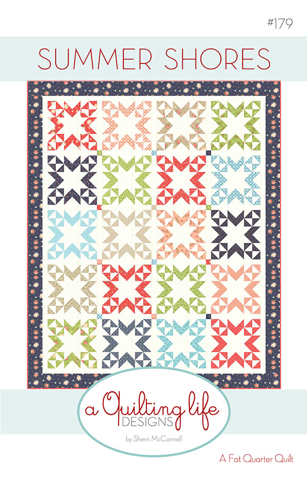 Summer Shores Quilt Pattern by Sherri McConnell of A Quilting Life