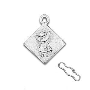 Sunbonnet Sue Zipper Pull or Sewing Charm