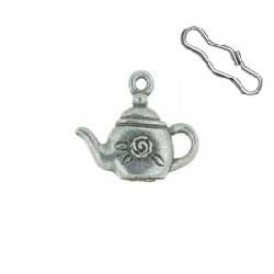 Teapot Zipper Pull or Sewing Charm