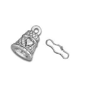 Thimble Zipper Pull or Sewing Charm