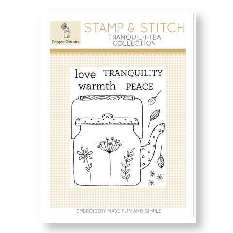 Stamp and Stitch Tranquil-I-Tea Collection by Poppie Cotton