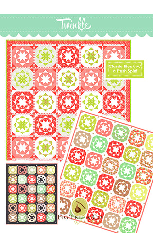 Twinkle Quilt Pattern by Fig Tree & Co.