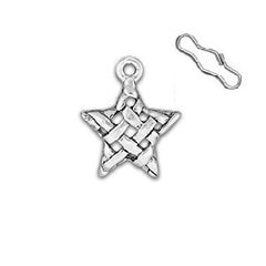 Woven Star Zipper Pull or Sewing Charm