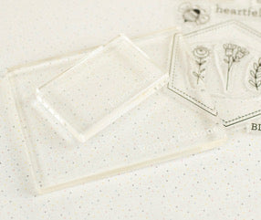 Acrylic Blocks for Embroidery Stamps by Poppie Cotton